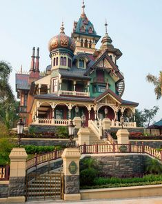 "I JUST HAD TO PIN THIS EVEN THOUGH IT HAS NEVER REALLY BEEN A HOME. One of the prettiest Victorian homes that never existed - this is Hong Kong Disneyland's ""Mystic Manor"" ride - an updated, high-tech version of Disney's ""Haunted Mansion"" ride. Still deserves a 'wow'.. And it combines so many elements from the victorian period."