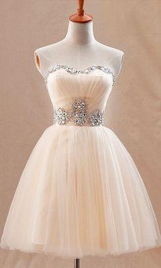 Peach tulle dress: