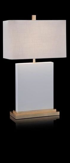 Glossy White Table Lamp - Table Lamps - Portable Lighting - Lighting - Our Products Luxury Table Lamps, Table Lamps For Bedroom, White Table Lamp, Room Lamp, Lamp Table, Bedroom Decor, Modern Bedroom Lighting, Luxury Lighting, Modern Lighting
