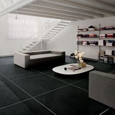 porcelain large tile Floors!! Follow me, Suzi M on Pinterest - Interior Decorator Mpls, MN.