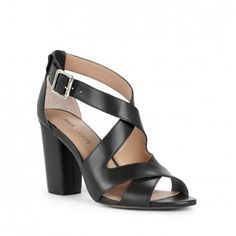 Sole Society Sandals - Stacked heel sandals - Nellee - Equestrian Tan