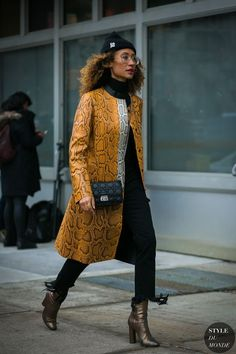 New York Fashion Week Fall 2017 Street Style: Elaine Welteroth