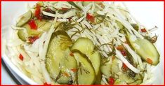 VERY TASTY SALAD Well, delicious salad, be sure to try to cook! 1 kg white cabbage 1 kg of fresh cucumbers 6 cloves of garlic For the marinade Unique Recipes, Ethnic Recipes, Russian Dishes, Beet Soup, Winter Food, Winter Meals, Main Dishes, Appetizers, Recipes