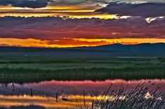 Sky is ablaze with color during #sunset at Warner Wetlands in #Oregon via @BLMOregon