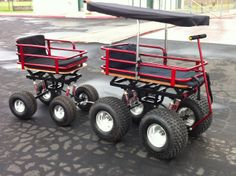 Candy Red Sparkle Monster Wagon with Trailer by Baja Wagon