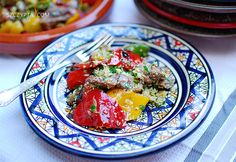 Grilled lamb with vegetables & couscous in orange blossom dressing