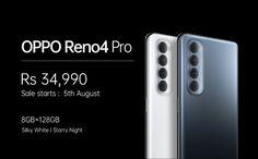 #টেকনোলজি: চিনা স্মর্টফোন কম্পানি Oppo তার নতুন স্মার্টফোন Oppo Reno Pro ভারতের বাজারে লঞ্চ করেছে। তবে স্মার্টফোনটি দাম 34,990 টাকা থেকে শুরু হচ্ছে। এই স্মার্টফোনটি সিঙ্গেল ভেরিয়েন্টে 8BG RAM এবং 128 GB স্টোরেজে সাথে লঞ্চ করা হয়েছে। তবে স্মার্টফোনটির প্রথম সেল 5 আগস্ট 2020 তে ই-কমার্স ওয়েবসাইট Flipkart অনলাইন সেল করা হবে।Oppo Reno Pro স্পেসিফিকেশন Oppo Reno Pro এই স্মার্টফোনটি 6.55 -ইঞ্চি Full HD+(1080×2400) 90% অ্যাসপেক্ট রেশিও এবং 90Hz রিফ্রেশ রেট রয়েছে। এছাড়া ব্যাক প্যানেল সুন্দর ফ