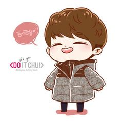 D.O too cute~ (cr: do it chu) - fanart