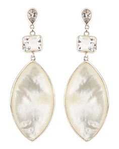 Rock Crystal & Mother-of-Pearl Marquise Drop Earrings - Stephen Dweck from Neiman Marcus on Catalog Spree