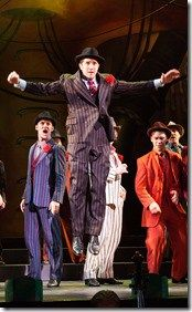 """Justin Adair stars as Sky Masterson in Light Opera Works' """"Guys and Dolls"""" by Frank Loesser, directed by Rudy Hogenmiller. (photo credit: Mona Luan)"""