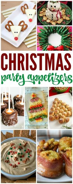Here are 20 Simple Christmas Party Appetizers for you! If you're having a Christmas Party or just looking to have snacks around the house, then be sure to check out these delicious reci via (food for parties dinner) Office Christmas Party, Christmas Party Food, Christmas Entertaining, Xmas Food, Christmas Cooking, Christmas Goodies, Christmas Desserts, Christmas Treats, Holiday Treats