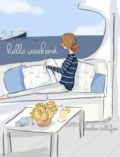 Bon Weekend, Hello Weekend, Happy Weekend, Positive Quotes For Women, Positive Vibes, Days And Months, Family Illustration, Illustrations, Daily Inspiration