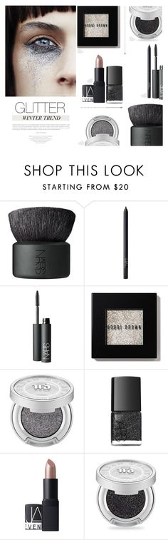 """""""Glitter Baby"""" by nmkratz ❤ liked on Polyvore featuring beauty, NARS Cosmetics, Bobbi Brown Cosmetics and Urban Decay"""