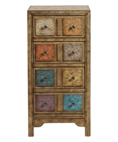 Loving this Slim Apothecary Drawer Cabinet on #zulily! #zulilyfinds