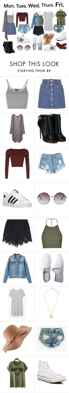 """OOTW #3"" by simplymollyrose ❤ liked on Polyvore featuring Topshop, Givenchy, WearAll, adidas, Monki, Chloé, Aéropostale, MANGO, Feather & Stone and One Teaspoon"