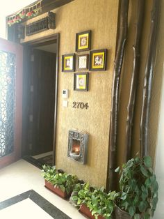 My Entrance endowed with tanjore paintings.