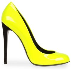 Pump Women ($275) ❤ liked on Polyvore featuring shoes, pumps, heels, scarpe, yellow, обувь, women, yellow heels pumps, leather footwear and leather shoes