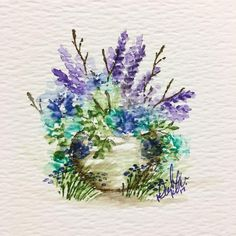 One more for today!! Loving the purples lately!!  #watercolour #artimpressionsstamps #artimpressions #watercolor #watercolortheartimpressionsway @artimpressions