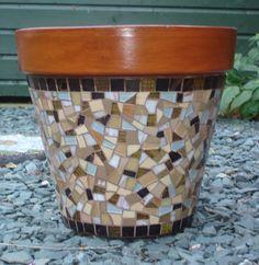 Hand crafted glass and ceramic mosaics, muni's mosaics, mosaic art, peterborough Mosaic Tile Table, Mosaic Planters, Mosaic Vase, Mosaic Tile Art, Mosaic Flower Pots, Pebble Mosaic, Ceramic Flower Pots, Mosaic Diy, Mosaic Garden