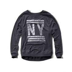 Abercrombie & Fitch Logo Graphic Slouchy Sweatshirt (€28) ❤ liked on Polyvore featuring tops, hoodies, sweatshirts, navy, abercrombie & fitch, navy blue tops, crew-neck sweatshirts, sweatshirts hoodies and crewneck sweatshirt