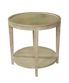 Noir Imperial Side Table - White Wash  $1005  26 h x 26 dia