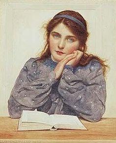 The School Girl ~ George Lawrence Bulleid ~ (British: 1858-1933)