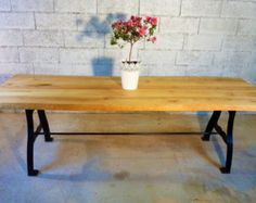 Solid Industrial Dining Table by Cosywooduk on Etsy