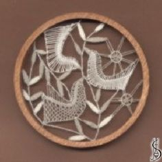 No. 10919     Dark / light frame without glass, diameter 10,5 cm. Price: € 14 ............................  Protected by copyright!