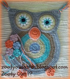 crochet owl trivet