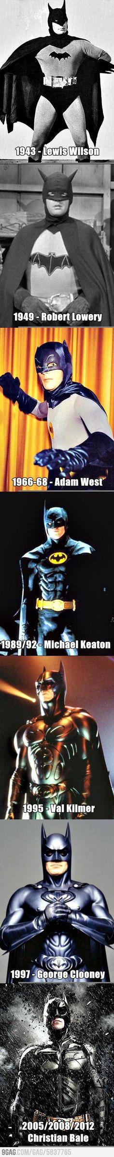 Evolution Of The Dark Knight