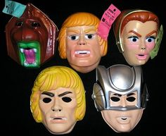 1980s He Man Masters of The Universe Mask Lot Halloween   eBay