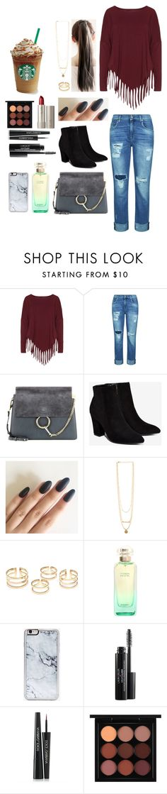 """""""Warm for Comfort..."""" by natalieengholm ❤ liked on Polyvore featuring Boris, 7 For All Mankind, Chloé, Billini, Hermès, Zero Gravity, Dolce&Gabbana, Ilia and MAC Cosmetics"""