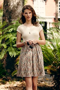 Arcata Dress #anthropologie I want to learn to sew this so I don't have to pay $168 for it.