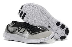 Great Nike Flyknit Trainer White Gray Black Running Shoes  $52.05