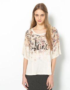 T-shirt Bershka EVASE SHINE