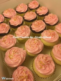 Pink and gold star cupcakes - twinkle twinkle little star