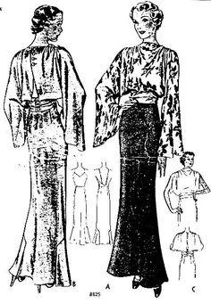 McCall 8825 | ca. 1936 Misses' Dress after Alix