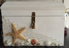 Nautical beachy treasure chest wedding card box by SEdecor on Etsy