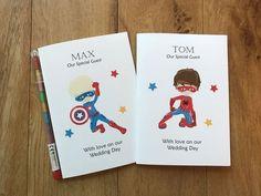 Childrens Kids Wedding Activity Book Pack Bag Favour SUPERHERO Marvel Inspired
