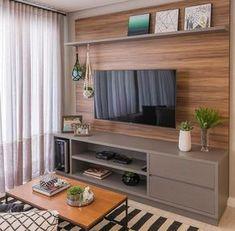 Amazing Modern TV Wall Decor Idea for Living Room Design Look Luxury - Istri Sholehah Home Living Room, Interior Design Living Room, Living Room Decor, Living Room Tv Unit Designs, Home Decor Furniture, Furniture Online, Wooden Furniture, Furniture Sets, Decor Ideas