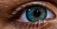 Blue + green eye with heterochromia.