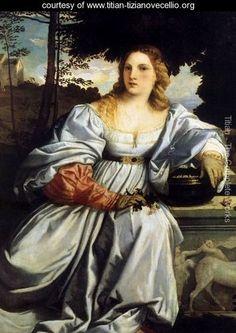 Sacred and Profane Love (detail-1) 1514 - Tiziano Vecellio (Titian)…