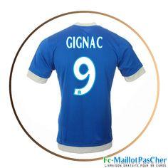 maillot foot olympique de marseille om bleu gignac 9 third 15 2016 2017