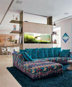 Amei esse sofá e as cores
