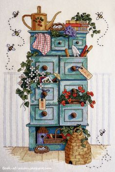 Brilliant Cross Stitch Embroidery Tips Ideas. Mesmerizing Cross Stitch Embroidery Tips Ideas. Cross Stitching, Cross Stitch Embroidery, Cross Stitch Patterns, Puzzles Für Kinder, Country Art, Kitchen Country, Country Style, Country Cupboard, Country Paintings