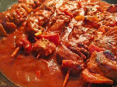 shish kebab pan from heartbeat Hamburger Meat Recipes, Sausage Recipes, Pork Recipes, Clean Eating Recipes, Healthy Dinner Recipes, Vegetarian Recipes, Shish Kebab, Kebabs, Best Pancake Recipe