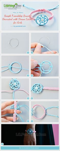 How to Make Simple Friendship Bracelet Decorated with Dream Catcher for Girls from LC.Pandahall.com
