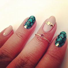 Dragon Egg Glam nails inspired by Black Milk Clothing's new Game of Thrones Collection - @RaqstarNails