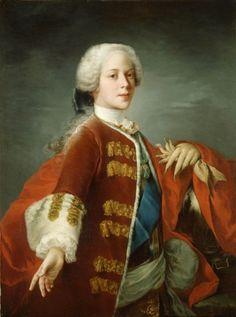 """Prince Henry Benedict Stuart"" by Louis Gabriel Blanchet (1739) in the Royal Collection, UK - From the curators' comments: ""Prince Henry Benedict was brought up in Rome at the court of his father, the exiled Prince James Francis Edward Stuart (the 'Old Pretender'). At an early age he took orders in the Roman Catholic Church and pursued a successful ecclesiastical career, becoming...cardinal in 1747....His death in 1807 marked the extinction of the male line of the house of Stuart."""