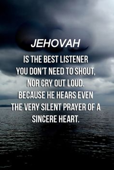 Keep praying to Jehovah God. Because he cares for you deeply.